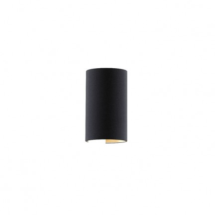 RENDL wall lamp RON W 15/25 wall Polycotton black/copper foil 230V E27 28W R11368 1