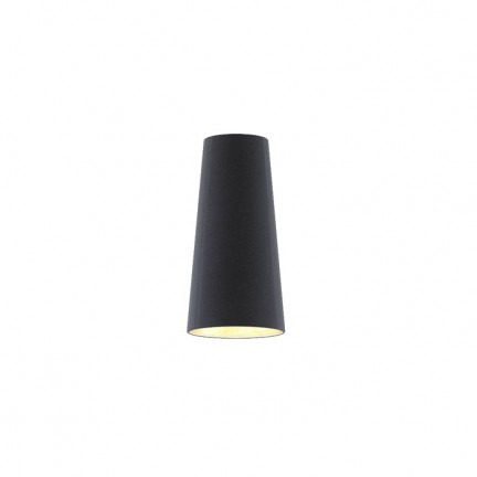 RENDL shades for lamps CONNY 15/30 table shade Polycotton black/copper foil max. 23W R11370 1
