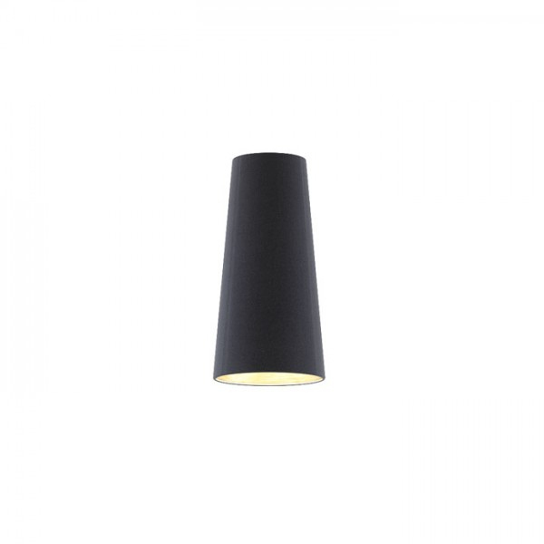 RENDL shades and accessories, bases, pendent sets CONNY 15/30 table shade Polycotton black/copper foil max. 23W R11370 1