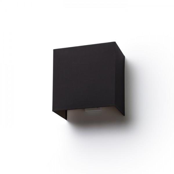 LOPE W 25/14 nástenná  Pollycotton čierna/medená fólia 230V E27 28W