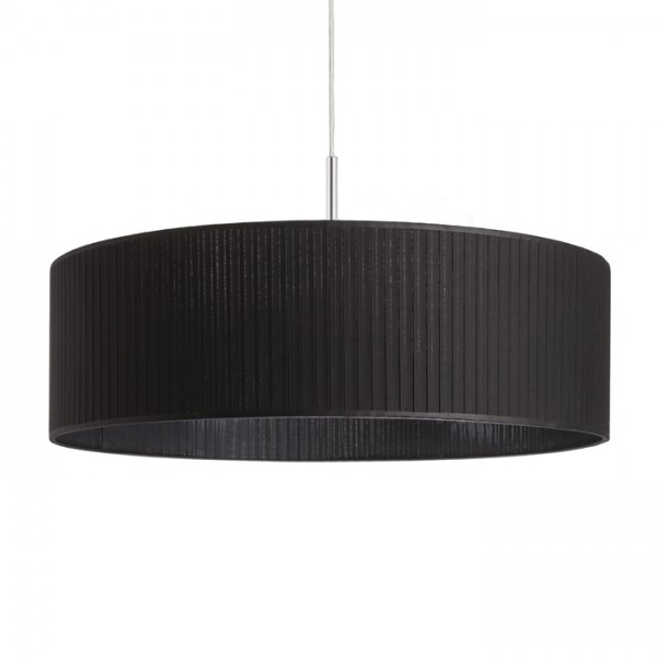 RENDL shades and accessories, bases, pendent sets RON 60/19 shade Pleated black max. 23W R11386 1