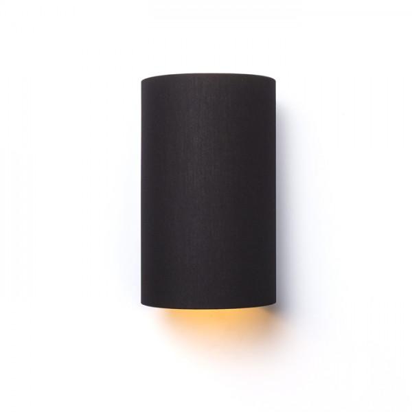 RON W 15/25 nástenná  Pollycotton čierna/zlatá fólia 230V E27 28W