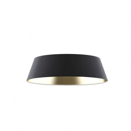 RENDL shades and accessories, bases, pendent sets KARO 55/15 shade Polycotton black/golden foil max. 23W R11470 1