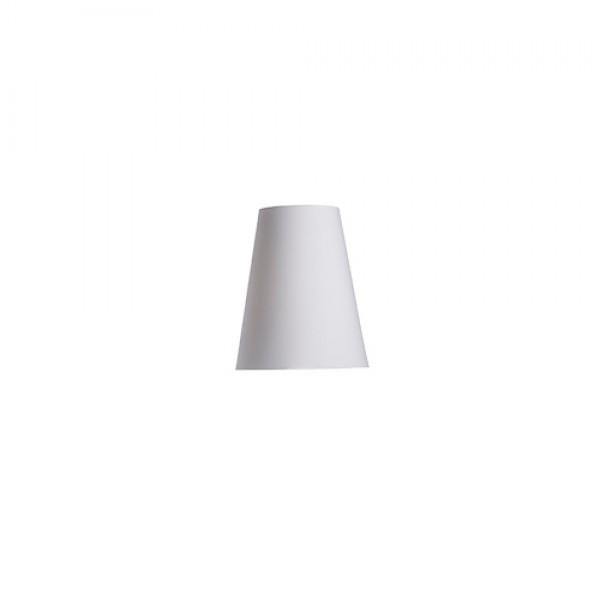 CONNY 25/30 stolné tienidlo  Polycotton biela/biele PVC  max. 23W