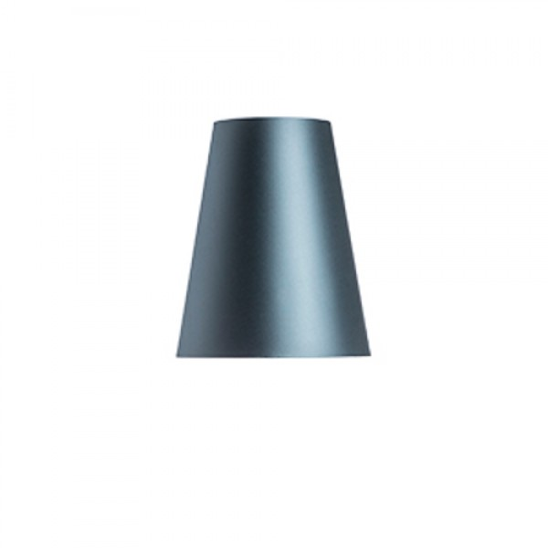 RENDL shades for lamps CONNY 25/30 table shade Monaco petrol blue/silver PVC max. 23W R11580 1