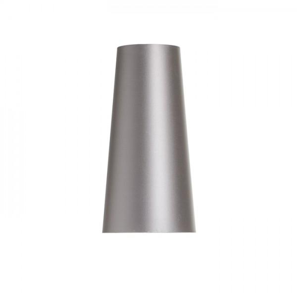 CONNY 15/30 stolné tienidlo  Monaco holubia sivá/strieborné PVC  max. 23W