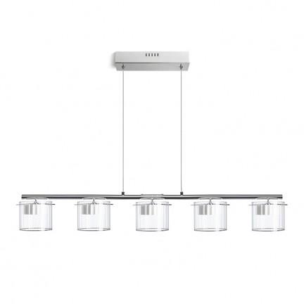 RENDL riippuvalaisin ESTRA V riippuvalaisin valkoinen kirkas lasi 230V LED 5x5W 3000K R11678 1