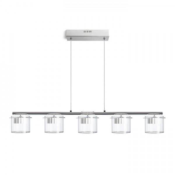 RENDL pendent ESTRA V pendant white clear glass 230V LED 5x5W 3000K R11678 1