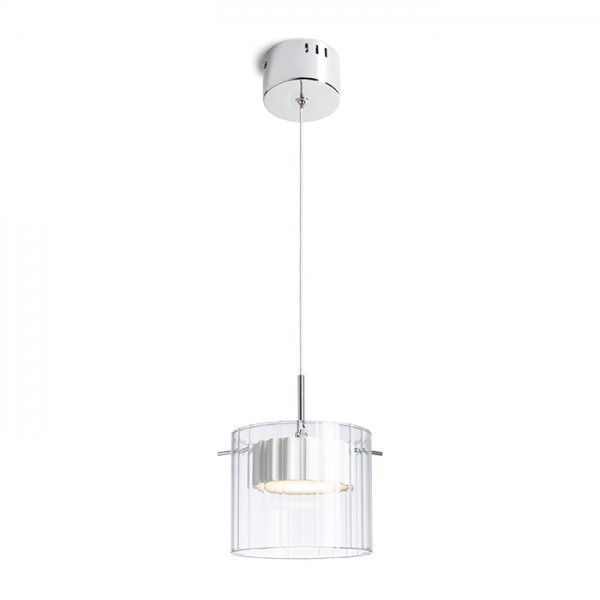 RENDL pendent ESTRA I pendant white clear glass 230V LED 5W 3000K R11679 1