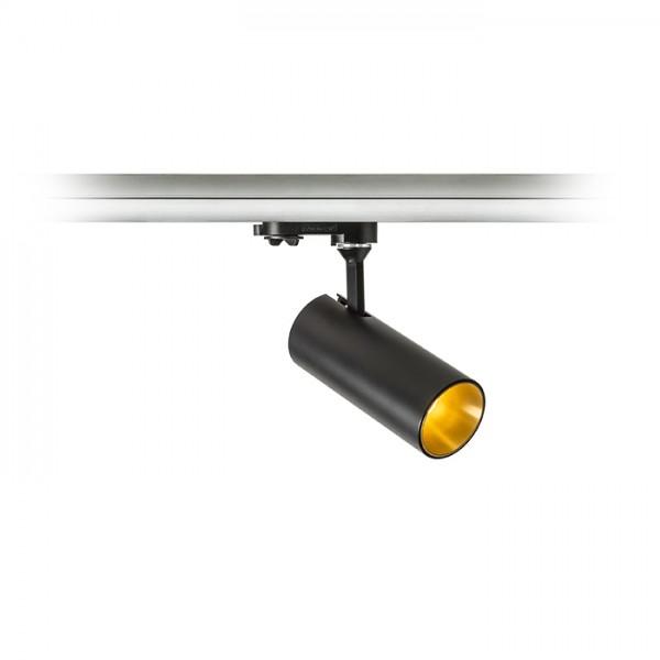 RENDL Track lights, LED strips and system lighting TRAX for 3-circuit tracks black/gold 230V/400mA LED 15W 38° 3000K R11693 1