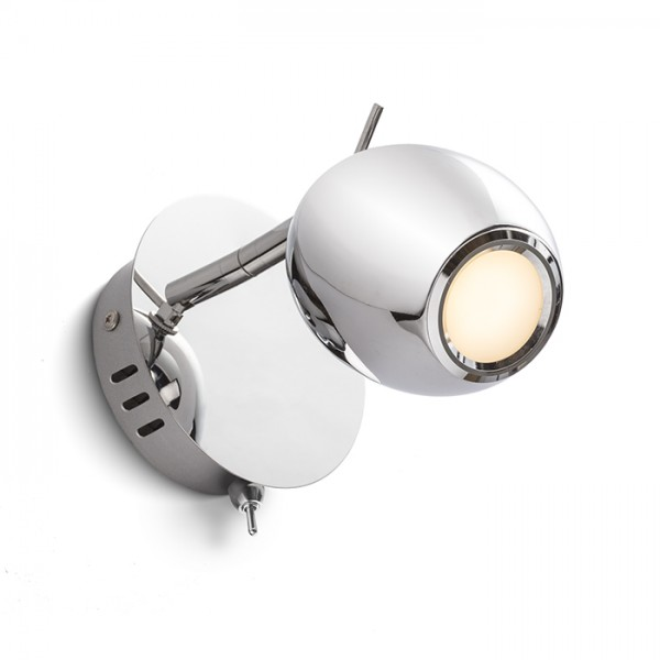 RENDL spot MOKO murale chrome 230V LED 3W 3000K R11697 1