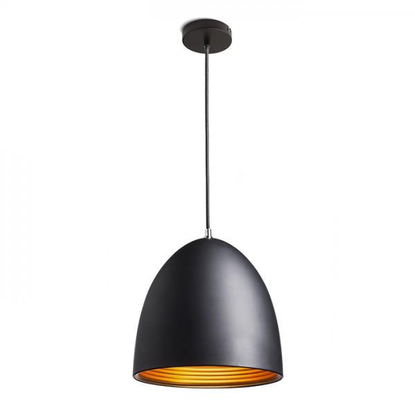 RENDL függő lámpatest CARISSIMA 30 függeszték matt fekete/aranysárga 230V E27 42W R11705 1