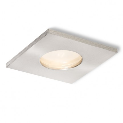 RENDL verzonken lamp SPLASH SQ inbouwlamp Mat Nikkel 230V GU10 50W IP65 R11736 1