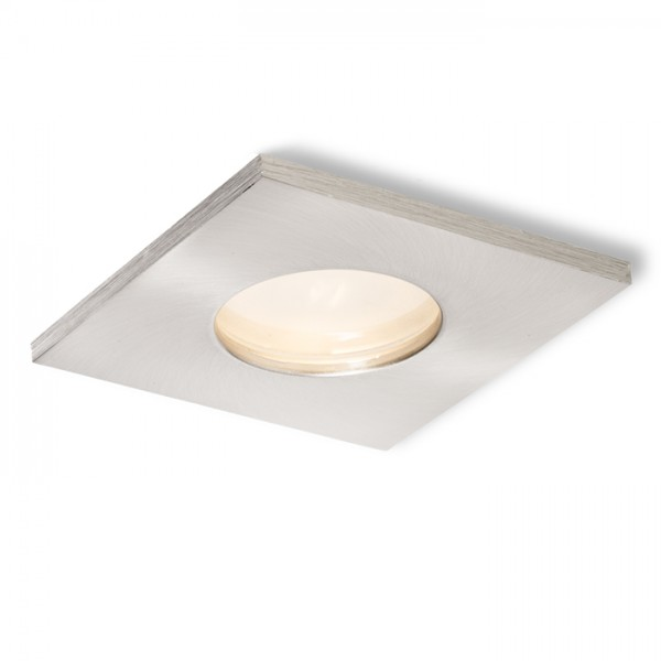 RENDL recessed light SPLASH SQ recessed matt nickel 230V GU10 50W IP65 R11736 1