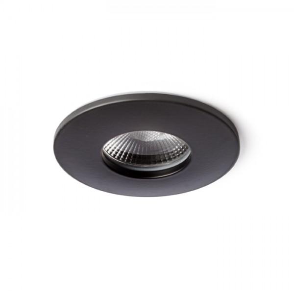WATERBOY R  matná čierna  230V LED 10W 40° IP65  3000K