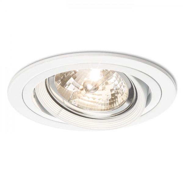 RENDL luminaire plafond EFFE R encastré blanc 12V G53 50W R11747 1