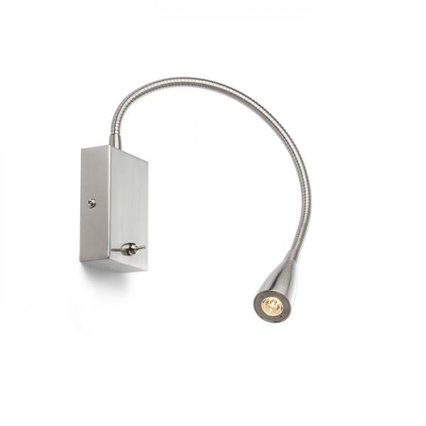 RENDL spot lámpa POINT fali lámpa matt nikkel 230V LED 3W 40° 3000K R11758 1