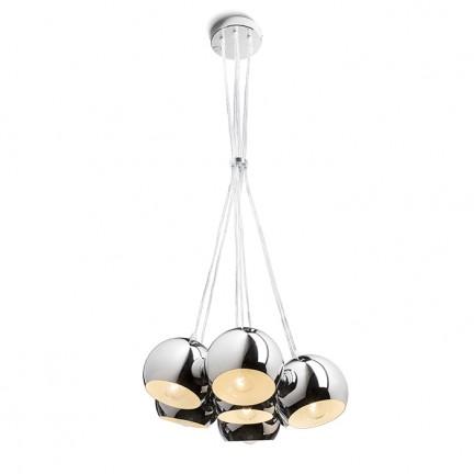 RENDL függő lámpatest ASTROMET VII függeszték króm 230V E27 7x42W R11761 1