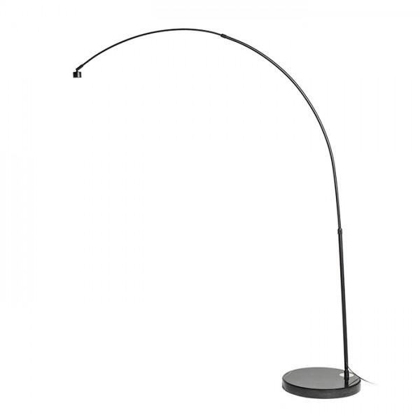 RENDL lampenkappen IRIDIS steel en voetstuk booglamp zwart 230V E27 23W R11762 1