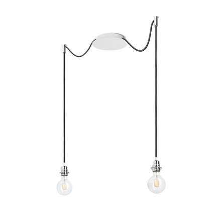 RENDL shades and accessories, bases, pendent sets KOMBIX 2 pendent set WB+BC+CHF 230V E27 2x28W R11778 1