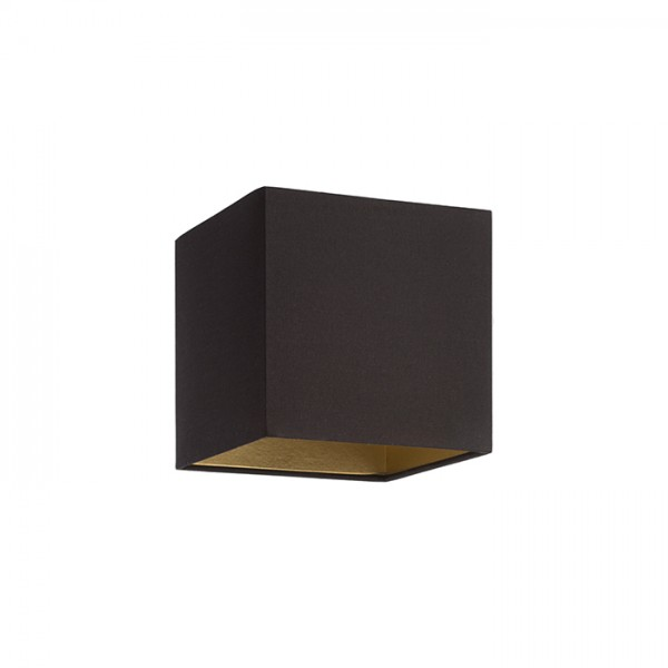 TEMPO 15/15 tienidlo  Pollycotton čierna/zlatá fólia  max. 28W