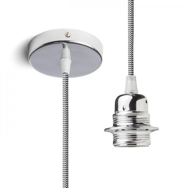 RENDL lampeskærme, tilbehør, baser, pendel sæt ELISA pendelset KRB+S/HVK+KRF 230V E27 28W R11876 1