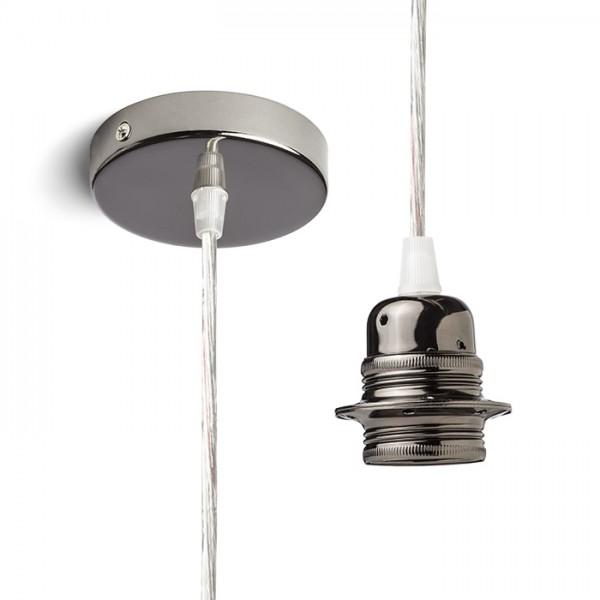 RENDL lampeskærme, tilbehør, baser, pendel sæt ELISA pendelset SKRB+TK+SKRF 230V E27 28W R11898 1