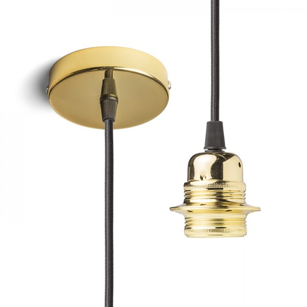 RENDL shades and accessories, bases, pendent sets ELISA pendant set GB+BC+GF 230V E27 28W R11901 1