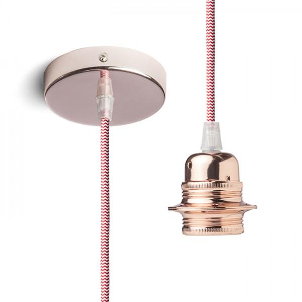 RENDL shades and accessories, bases, pendent sets ELISA pendant set CB+R/WC+CF 230V E27 28W R11906 1