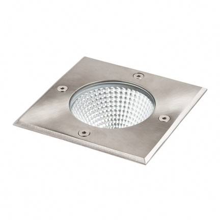 RENDL luminaria de exterior RIZZ SQ 125 acero inoxidable 230V LED 7W 41° IP67 3000K R11962 1
