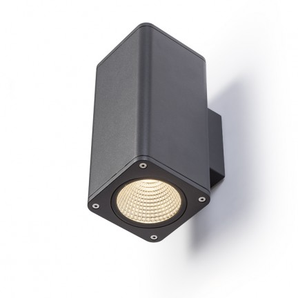 RENDL outdoor lamp MIZZI SQ II wall anthracite grey 230V LED 2x12W 46° IP54 3000K R11965 1