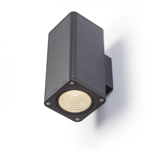 RENDL outdoor lamp MIZZI SQ II wall anthracite grey 230V LED 2x12W 46° IP54 3000K R11965 1