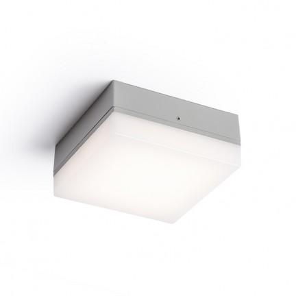 RENDL buiten lamp SPECTACLE opbouwlamp zilvergrijs 230V LED 5W IP54 3000K R11968 1