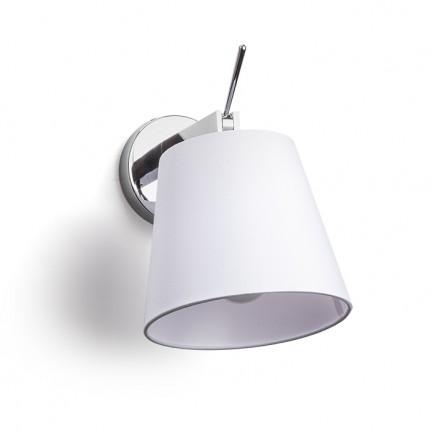 RENDL væglampe JERSEY væg hvid krom 230V E27 42W R11976 1
