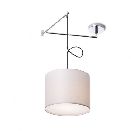 RENDL hanglamp BROADWAY hanglamp met arm wit Chroom 230V E27 42W R11978 1