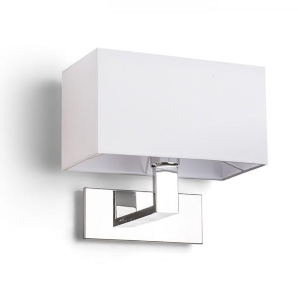 RENDL lámpara de pared PLAZA de pared blanco cromo 230V E27 42W R11981 1