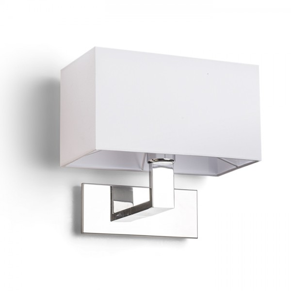 RENDL zidna lampa PLAZA zidna bijela krom 230V E27 42W R11981 1