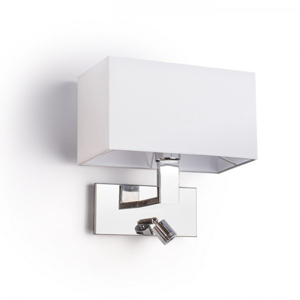 RENDL zidna lampa PLAZA zidna s LED bijela krom 230V E27 LED 42+3W 3000K R11982 1