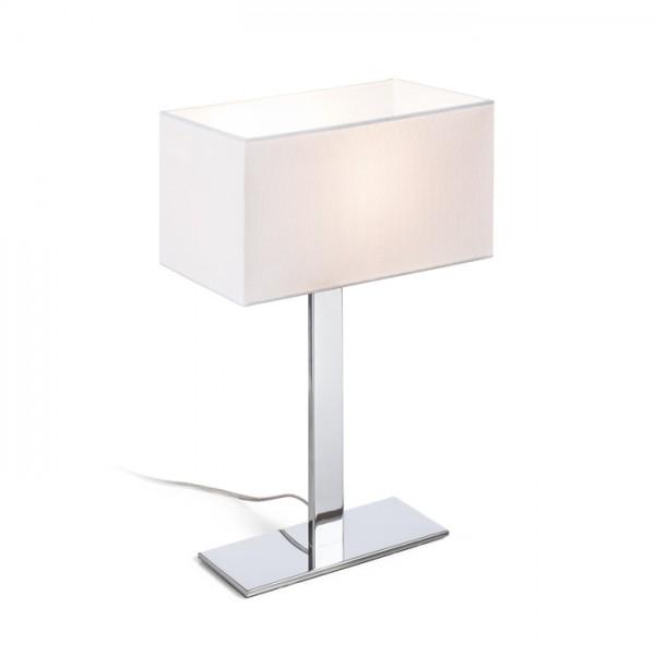 RENDL table lamp PLAZA M table white chrome 230V E27 42W R11983 1