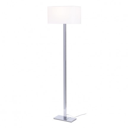 RENDL staande lamp PLAZA staande lamp wit Chroom 230V E27 42W R11984 1