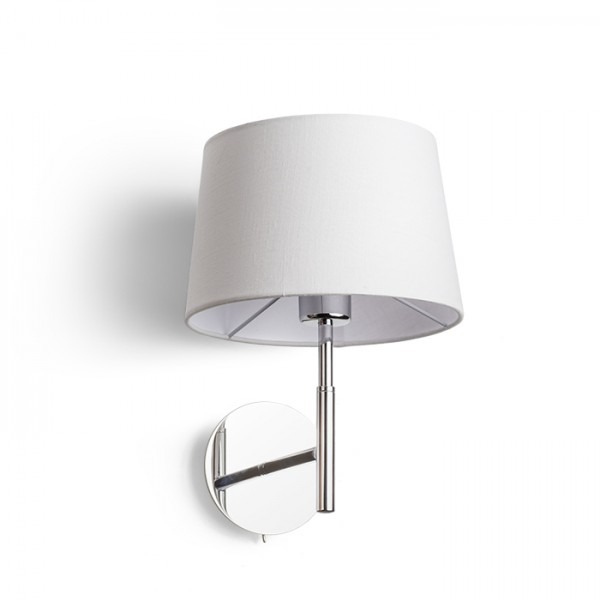 RENDL wall lamp BROADWAY wall white chrome 230V E27 42W R11985 1