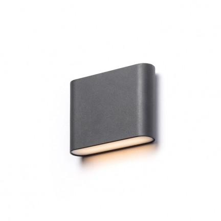RENDL Aussenleuchte CHOIX 114 Wandleuchte anthrazitgrau 230V LED 2x3W IP54 3000K R12012 1