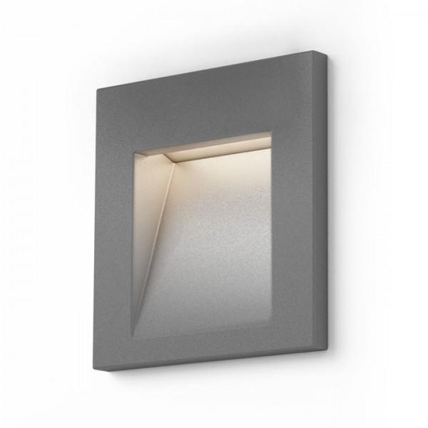 RENDL venkovní světlo TESS SQ zápustná stříbrnošedá 230V LED 3W IP54 3000K R12014 1
