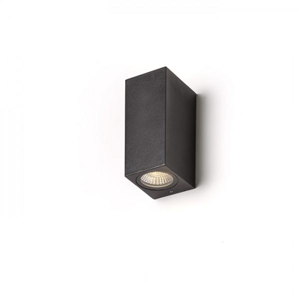 RENDL buiten lamp KUBI II antracietgrijs 230V LED 2x3W 56° IP54 3000K R12028 1