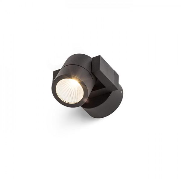 ORIT nástenná čierna  230V LED 6W 80° IP44  3000K