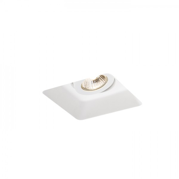 RENDL recessed light DINO SQ GU10 directional plaster 230V GU10 35W R12038 1