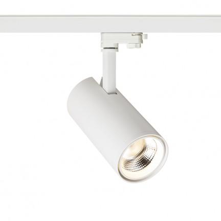 RENDL tiras y sistemas LED PRODIGI L para carril trifásico blanco 230V LED 30W 36° 3000K R12049 1