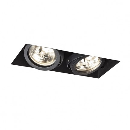 RENDL recessed light ELECTRA II black 12V G53 2x50W R12051 1