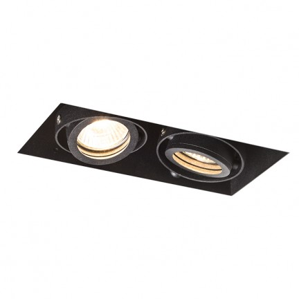 RENDL recessed light ELECTRA II black 230V GU10 2x50W R12053 1
