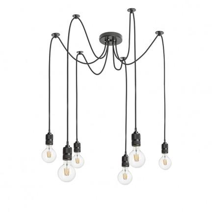 RENDL függő lámpatest CINDY VI függeszték fekete 230V E27 6x42W R12054 1
